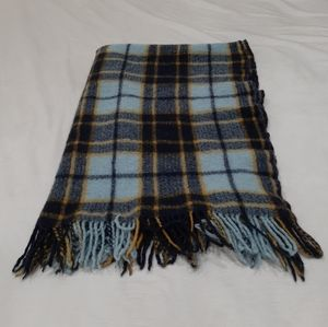 Vintage wool throw blanket 35 by 46 inches